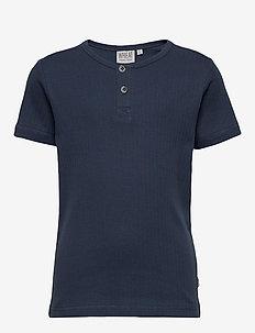 T-Shirt Bertram - kortermede - indigo