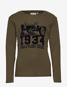 T-Shirt Tractor - ARMY LEAF