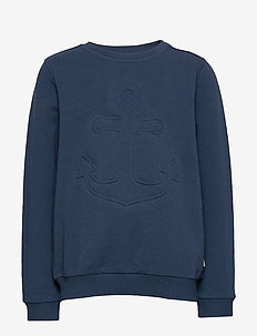 Sweatshirt Anchor Embossed - sweatshirts - indigo
