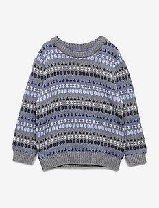 Knit Pullover Alexander - strikkevarer - dark melange grey