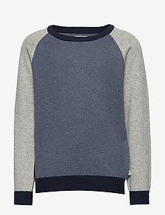 Knit Pullover Flemming - strikkevarer - greyblue melange