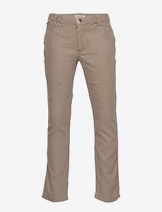 Trousers Jens - pantalons - cashew