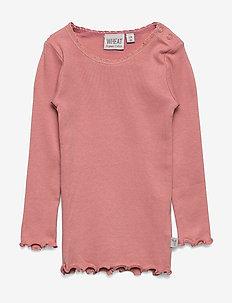 Rib T-Shirt Lace LS - SOFT ROUGE