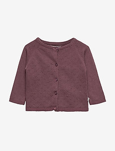 Knit Cardigan Maja - SOFT EGGPLANT