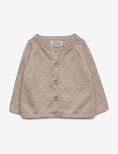 Knit Cardigan Maja - cardigans - melange sand