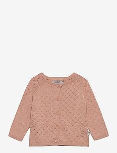 Knit Cardigan Maja - cardigans - misty rose