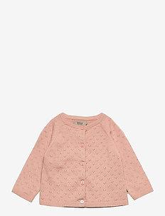 Knit Cardigan Maja - gilets - misty rose