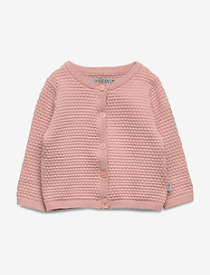 Knit Cardigan Manuela - gilets - misty rose