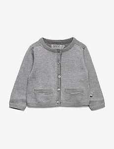 Knit Cardigan Ibi - kardigany - melange grey