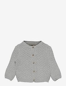 Knit Cardigan Magnella - cardigans - melange grey