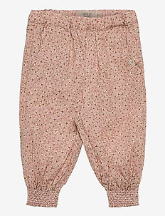 Trousers Sara - trousers - misty rose flowers