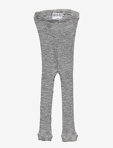 Wool Rib Leggings - MELANGE GREY