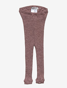 Wool Rib Leggings - PLUM MELANGE