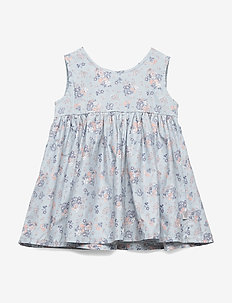 Pinafore Wrinkles - robes - pearl blue flowers