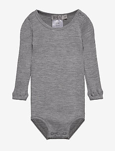 Body Wool Rib LS - MELANGE GREY