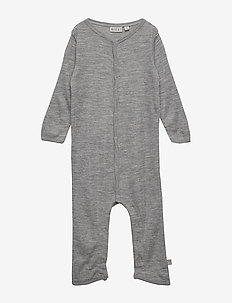 Plain Wool Jumpsuit - MELANGE GREY