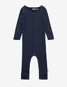 Plain Wool Jumpsuit - bodies - navy