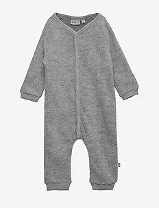 Felted Wool Jumpsuit - MELANGE GREY