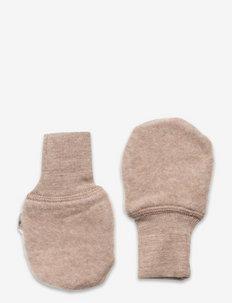 Wool Fleece Mittens - mützen & handschuhe - khaki melange