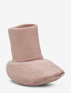 Felted Wool Booties - pantoufles - fawn