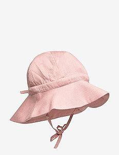 Baby Girl Sun Hat - solhatt - misty rose