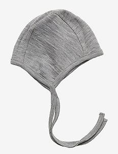 Baby Rib Cap Wool - hats - melange grey