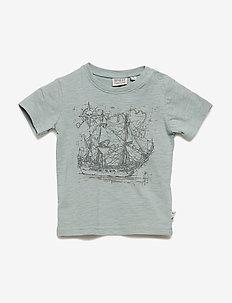 T-Shirt Ship SS - kortermede - lead blue