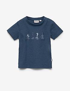 T-Shirt Ships - short-sleeved - blue denim
