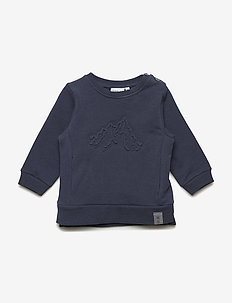 Sweat Embossed Mountains - sweatshirts - navy