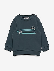 Sweatshirt Stripe Bike - sweatshirts - dark petroleum