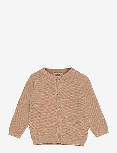 Knit Cardigan Ray - cardigans - sand melange