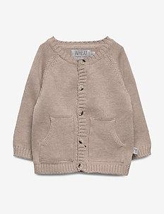 Knit Cardigan Classic - cardigans - melange sand