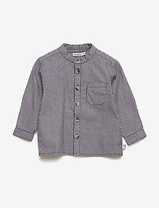 Shirt Pocket LS - shirts - greyblue