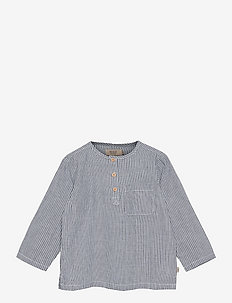 Shirt Bjørk - blouses & tunics - cool blue stripe