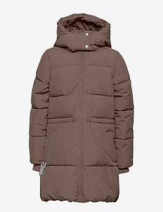 Down Coat Nanny - PLUM MELANGE