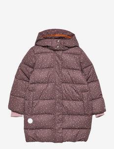 Puffer Coat Yrsa - gewatteerde jassen - powder plum dots