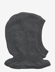 Knitted Balaclava - DARK MELANGE GREY