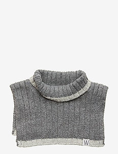Knitted Neck Warmer - Écharpes - dark melange grey