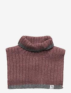 Knitted Neck Warmer - EGGPLANT MELANGE