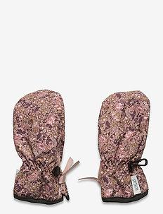Mittens Zipper Tech - zimowe ubranie - rose flowers