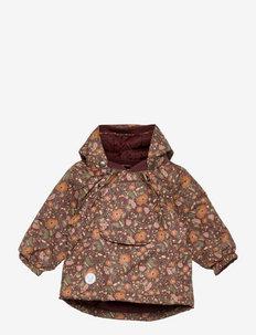 Jacket Sascha Tech - gewatteerde jassen - maroon flowers