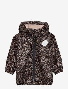 Rainwear Charlie - sett & regndresser - greyblue flowers
