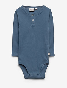 Body Placket LS Edgeband - long-sleeved - indigo