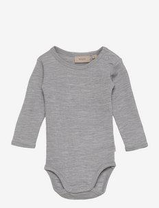 Body Plain Wool LS - długie rękawy - melange grey