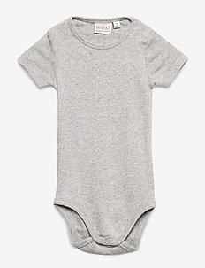 Rib Body Plain SS - lyhythihaiset - melange grey