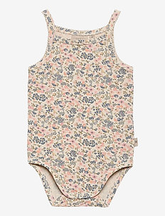 Body Sleeveless Frill - kurzärmelig - flowers and seashells