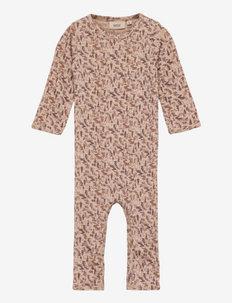 Plain Wool Jumpsuit - langärmelig - khaki wild life