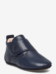 Dakota Leather Indoor Shoe - slippers - navy
