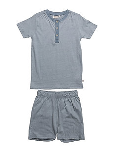 Boy Py Set Short SS - DUSTY BLUE