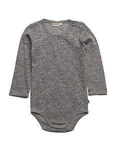 Body Plain Wool LS - MELANGE GREY